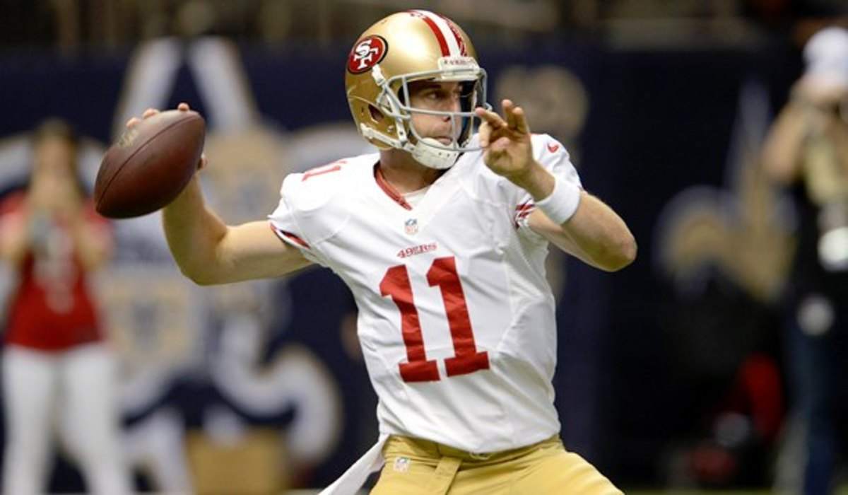 Alex Smith posted a 38-36-1 record as a starter for the 49ers.(Gerald Herbert/AP)