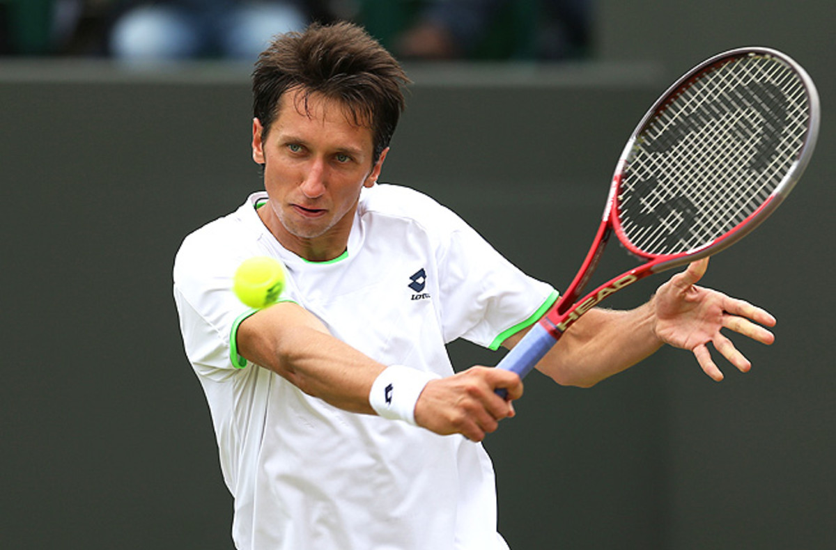 Sergiy Stakhovsky didn't last past the third round at Wimbledon, losing to Jurgen Melzer.