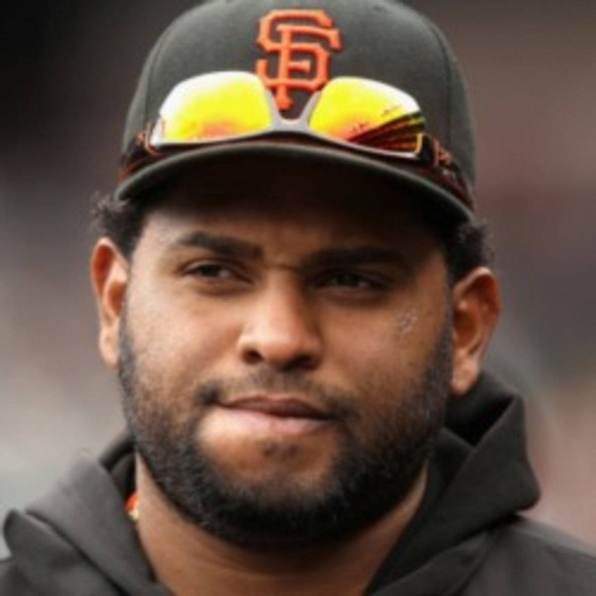 Giants third baseman Pablo Sandoval is dealing an elbow injury. (Ezra Shaw/Getty Images)