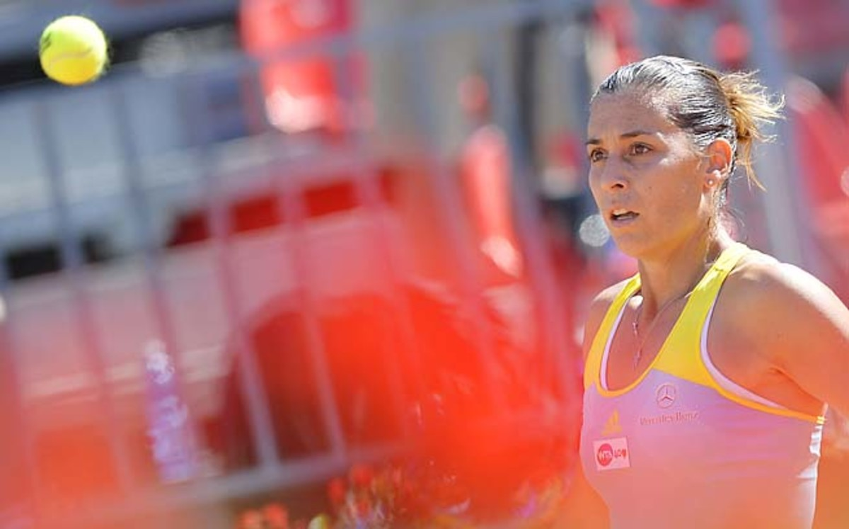 Flavia Pennetta hasn't gotten past the fourth round of the French Open.