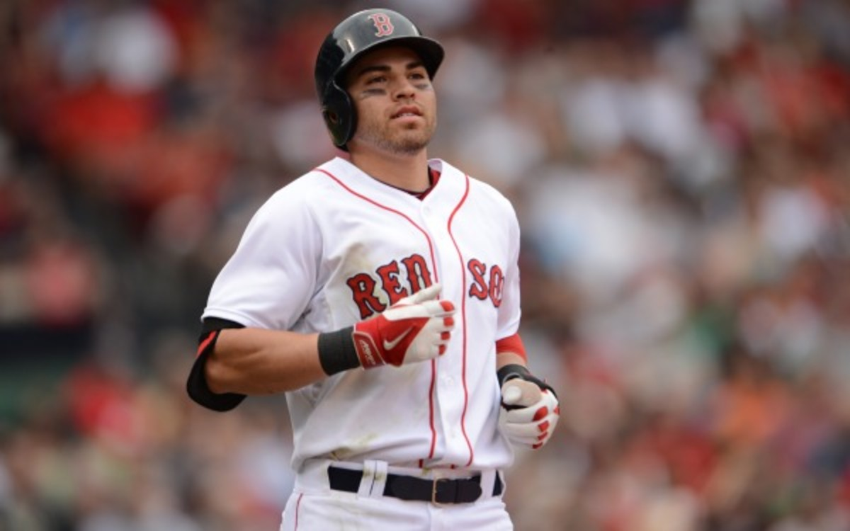 Jacoby Ellsbury has a compression fracture in his right foot. (Michael Ivins/Boston Red Sox/Getty Images)