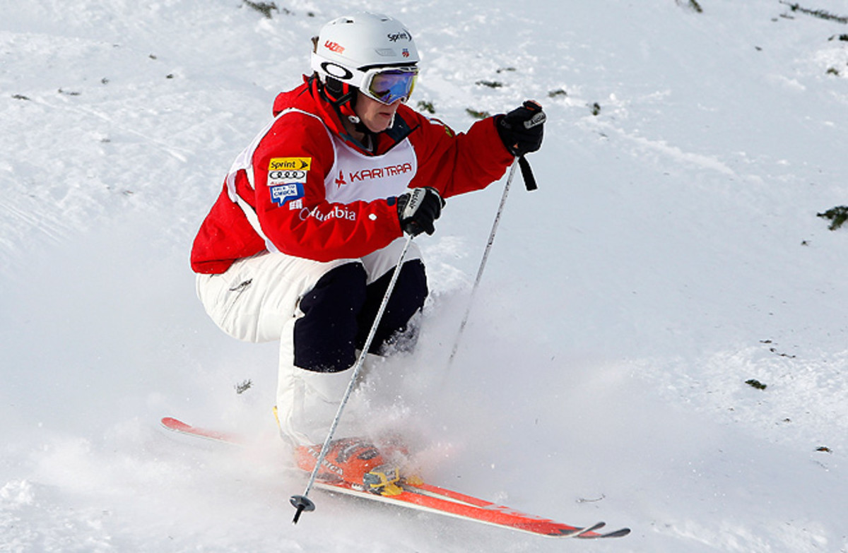 Hannah Kearney won the moguls World Cup title by 91 points, and is currently second in the overall standings.