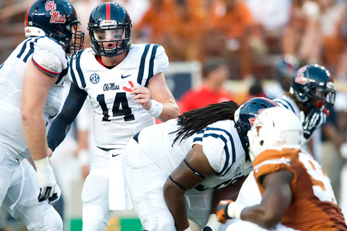 Rebels QB Bo Wallace (14) has thrown for 648 yards and four TDs.
