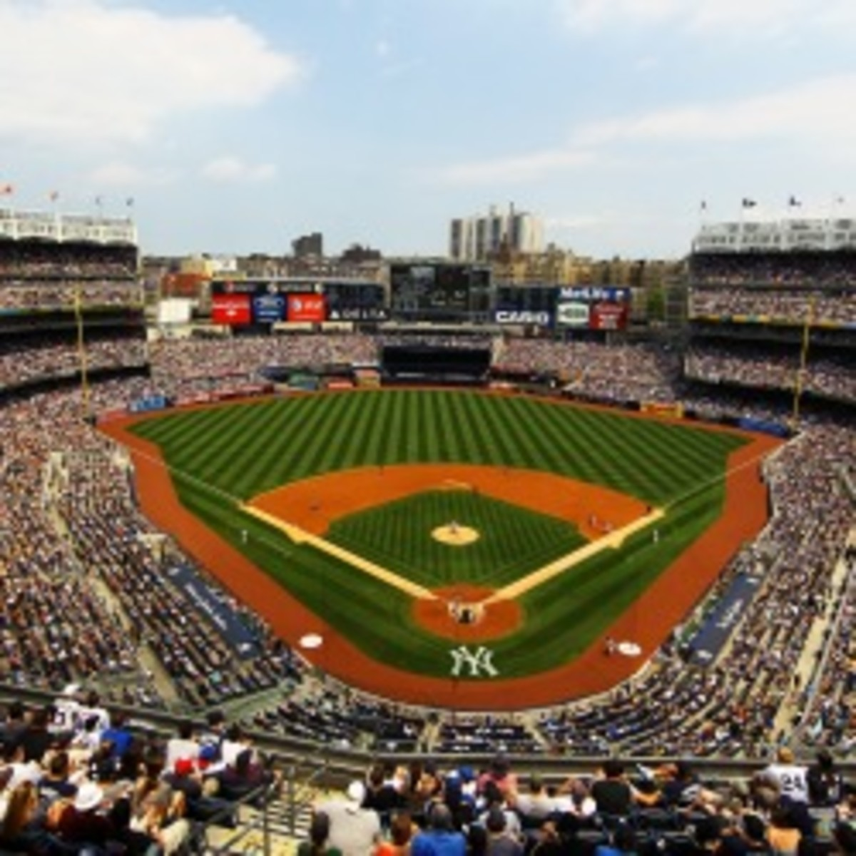 Yankee Stadium will reportedly host two hockey games next season. (Al Bello/Getty Images)