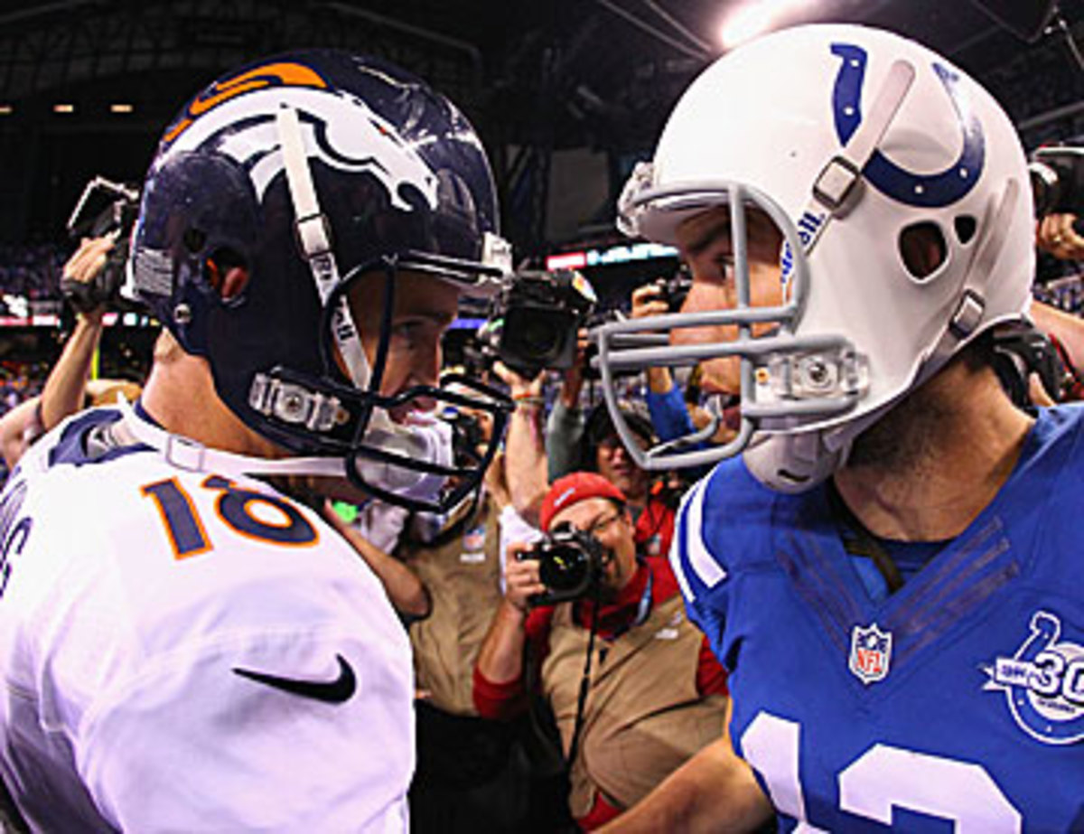 Get ready for Peyton vs. Luck II. (Dilip Vishwanat/Getty Images)