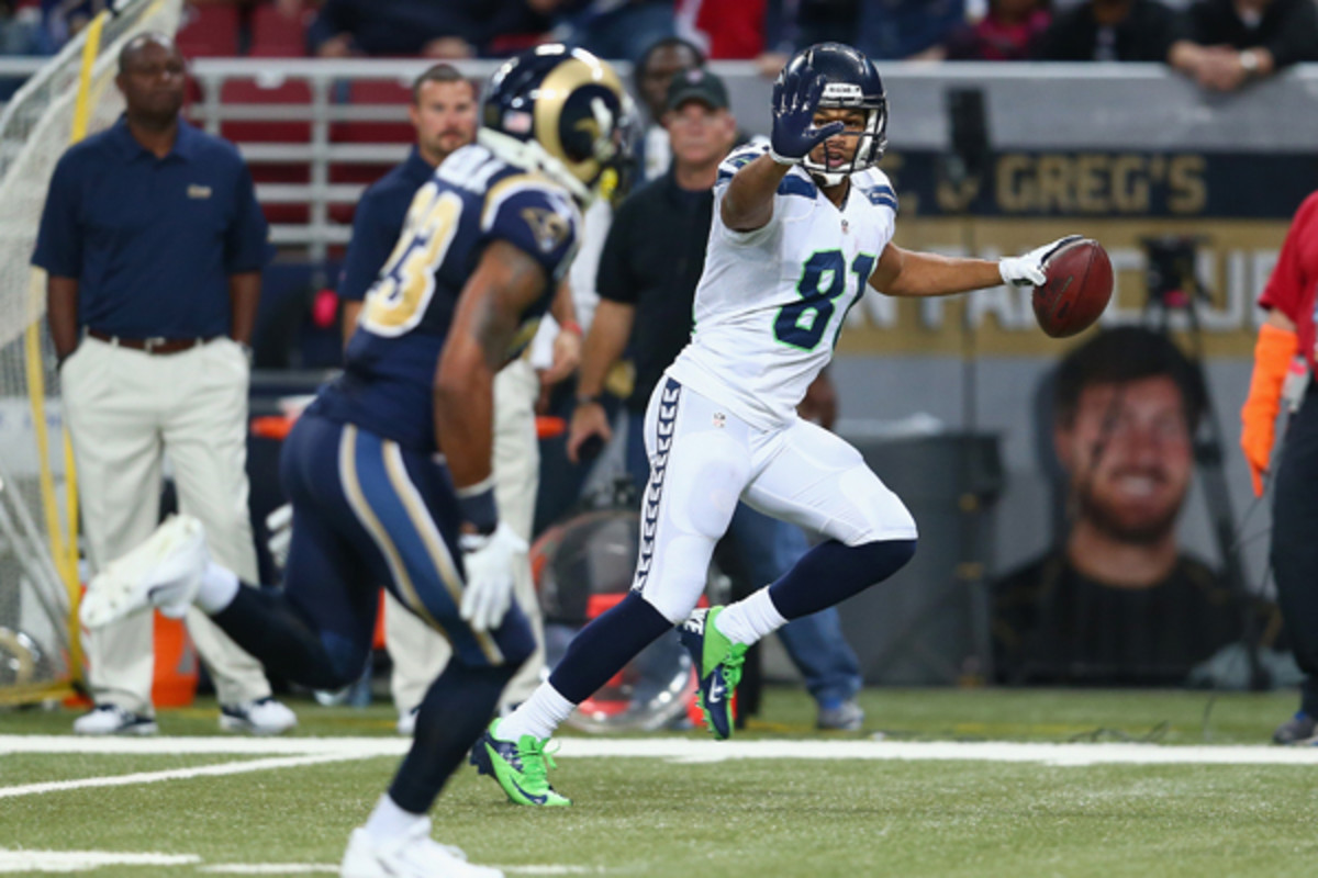 Golden Tate's 'farewell gesture' to Janoris Jenkins attracted more attention that Tate would have preferred. (Andy Lyons/Getty Images)