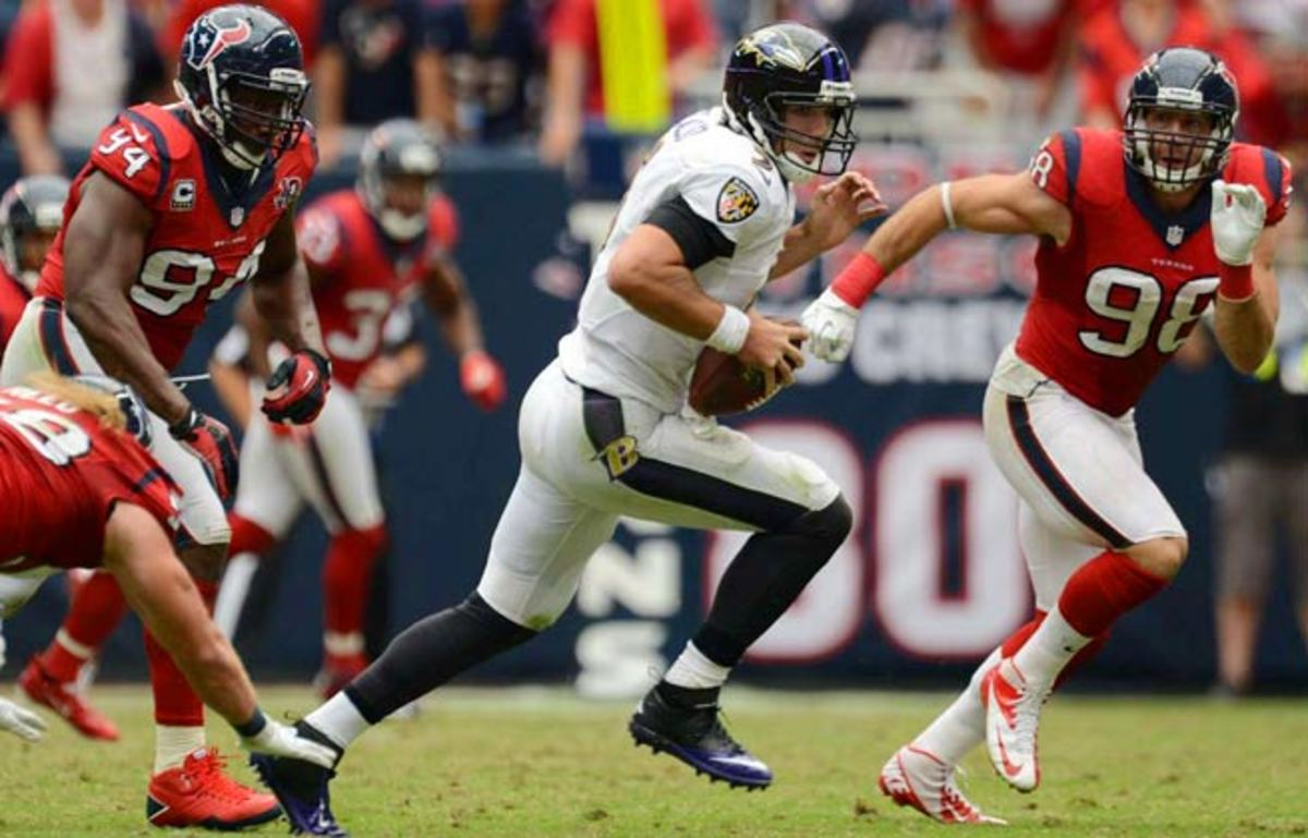 Joe Flacco and the Houston Texans will square off again, this time in Baltimore.