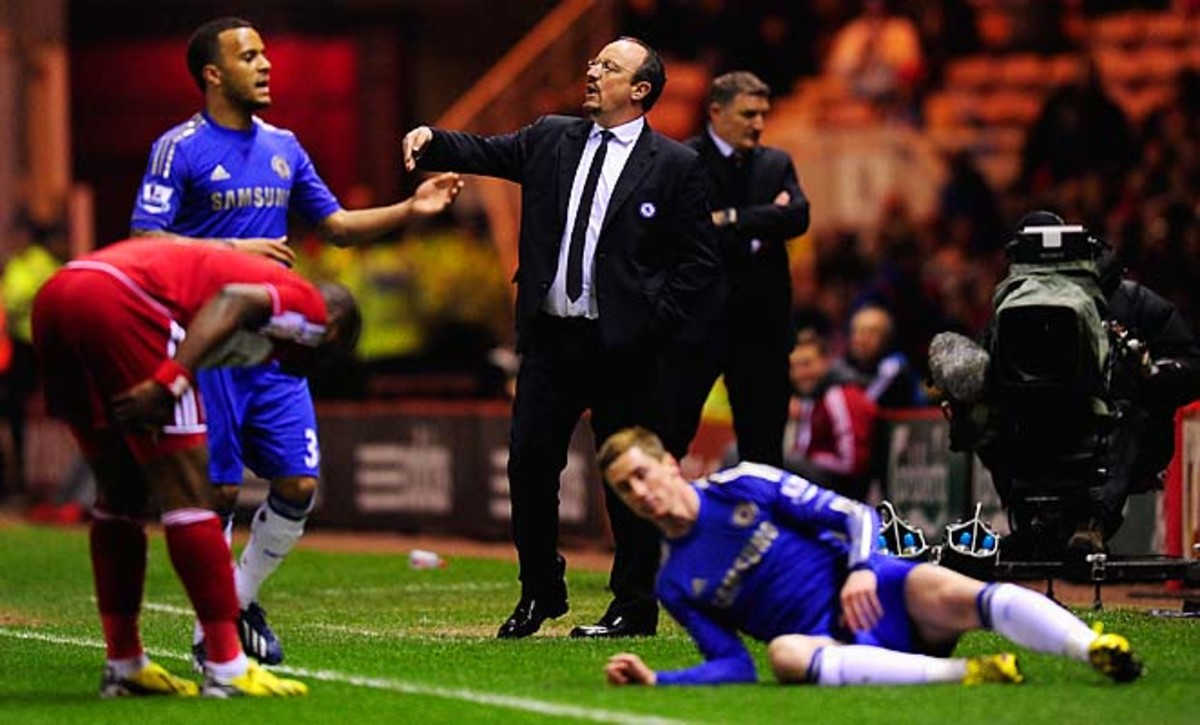 Chelsea manager Rafa Benitez said after the match he's leaving after the season.