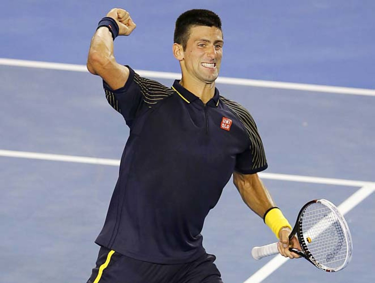 No. 1 Novak Djokovic will face either Roger Federer or Andy Murray in the Australian Open final.