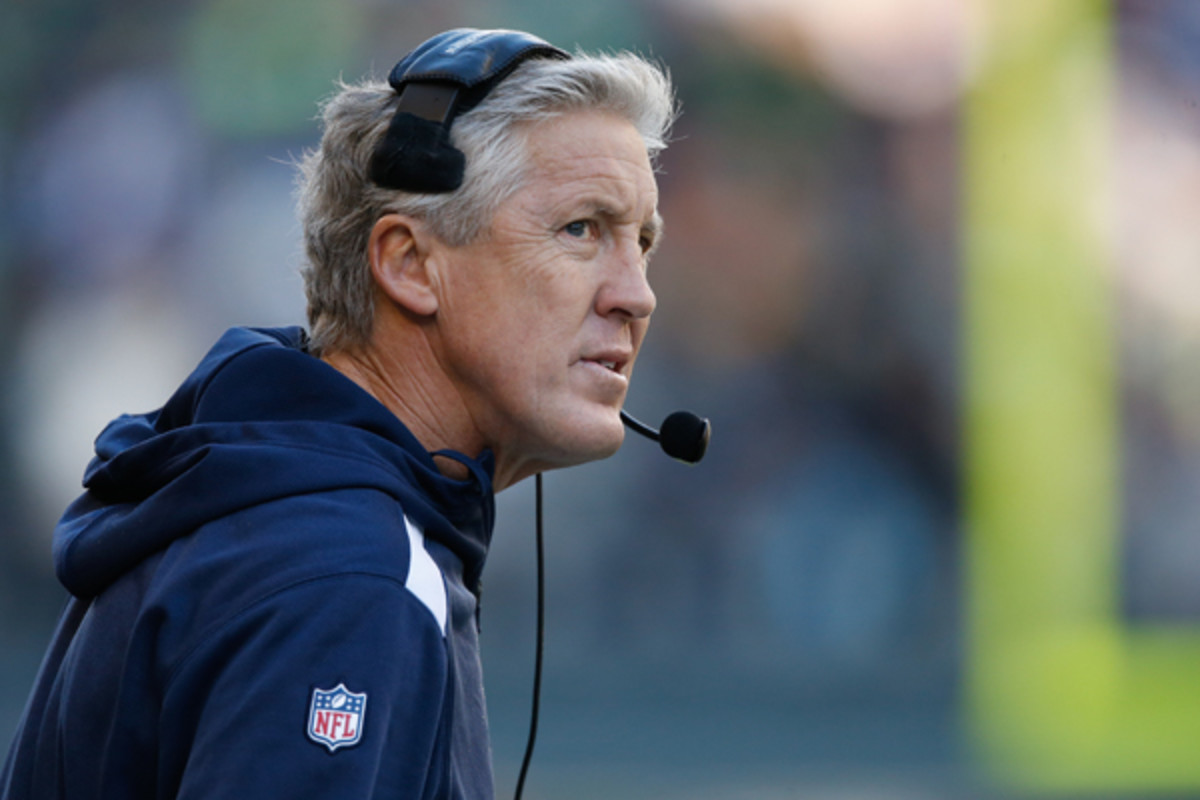Pete Carroll has tried to stem the tide, but the Seahawks are taking on water. (Otto Greule Jr./Getty Images)