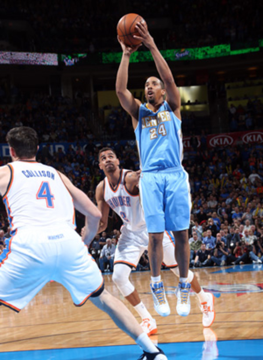 Andre Miller had 20 points for the Nuggets in a surprise road win over the Thunder (Layne Murdoch/Getty Images)