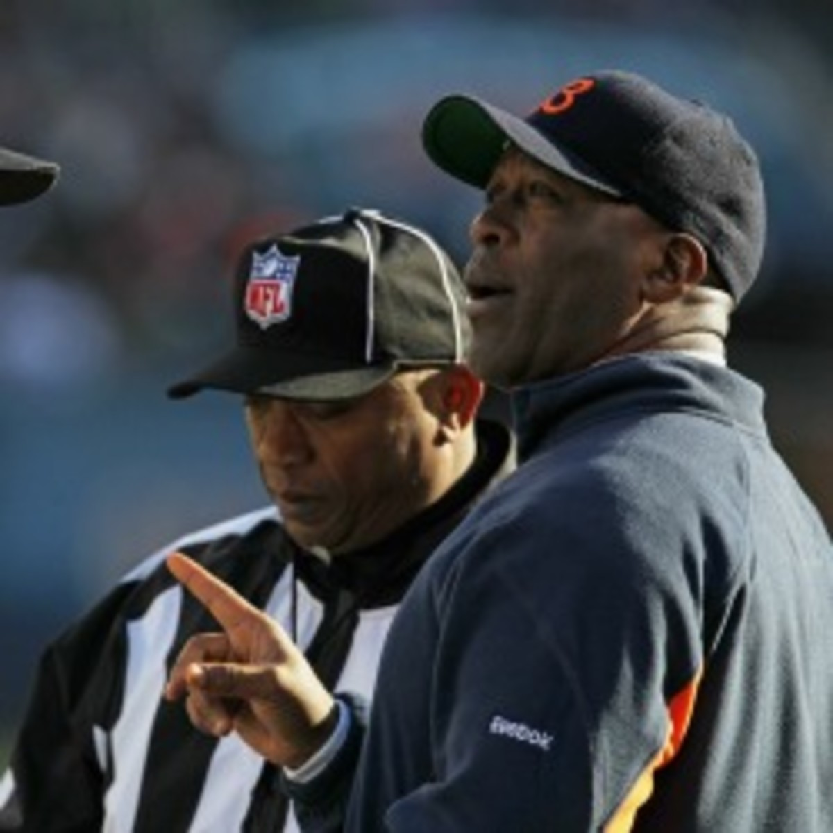 Former Bears coach Lovie Smith may sit out a year if he doesn't land a head coaching position. (Jonathan Daniel/Getty Images)