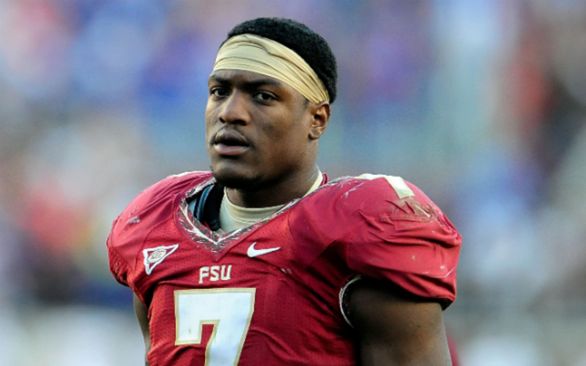Florida State has suspended linebacker Christian Jones (above) and defensive tackle Eddie Goldman. (Stacy Revere/Getty Images)