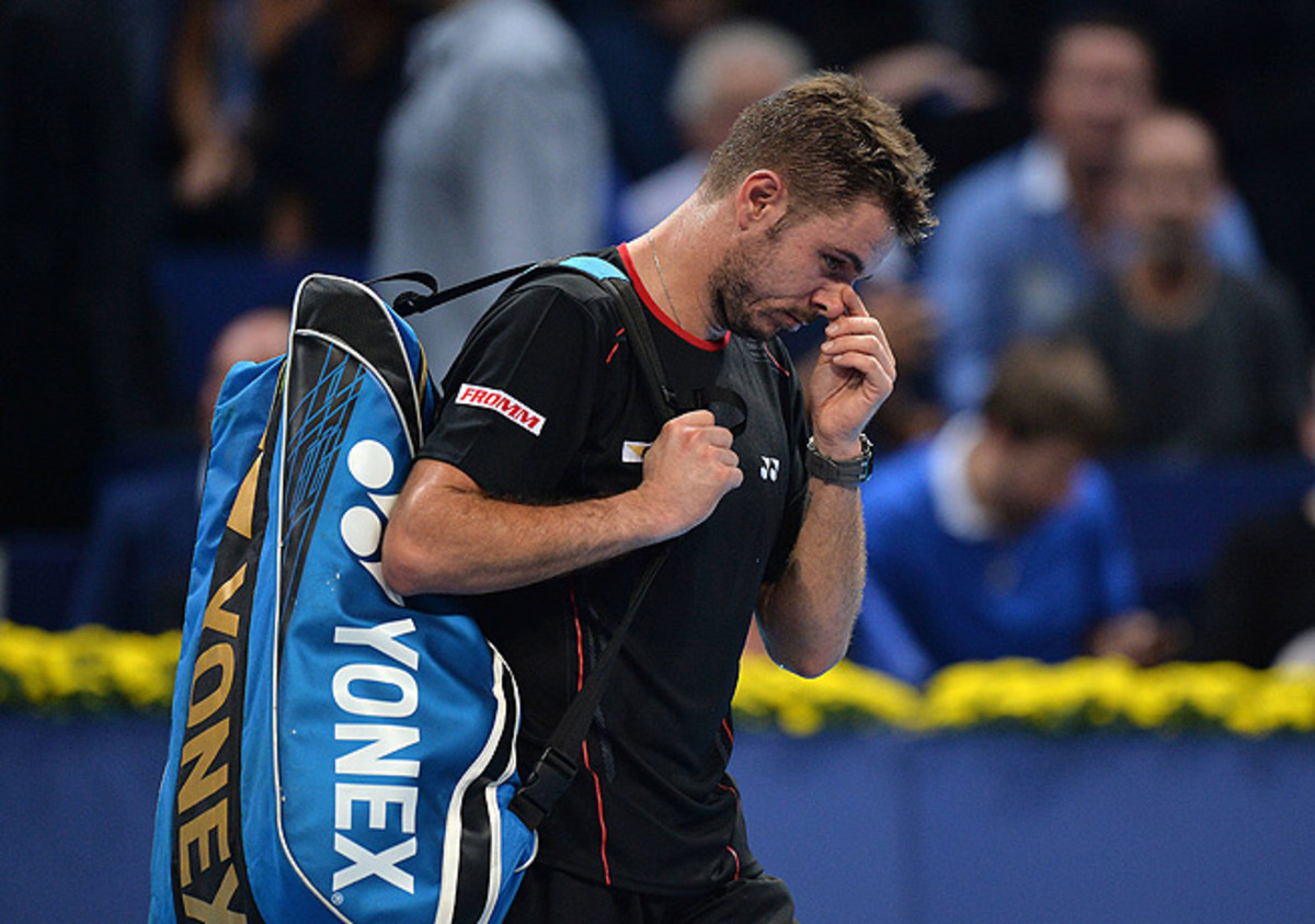 Stanislas Wawrinka didn't win a set while being defeated by Edouard Roger-Vasselin.