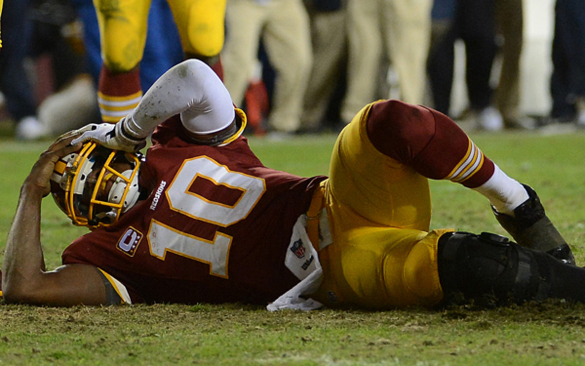 Robert Griffin III cried upon waking up and discovering doctors had reconstructed his knee. (Getty Images)