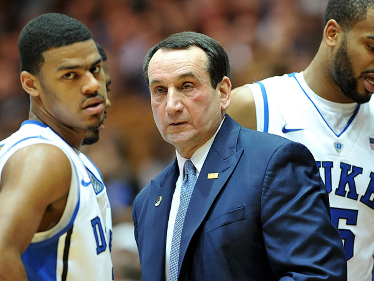 Duke coach Mike Krzyzewski famously claimed the ACC would be the best conference in the history of college basketball. (Lance King/Getty Images)