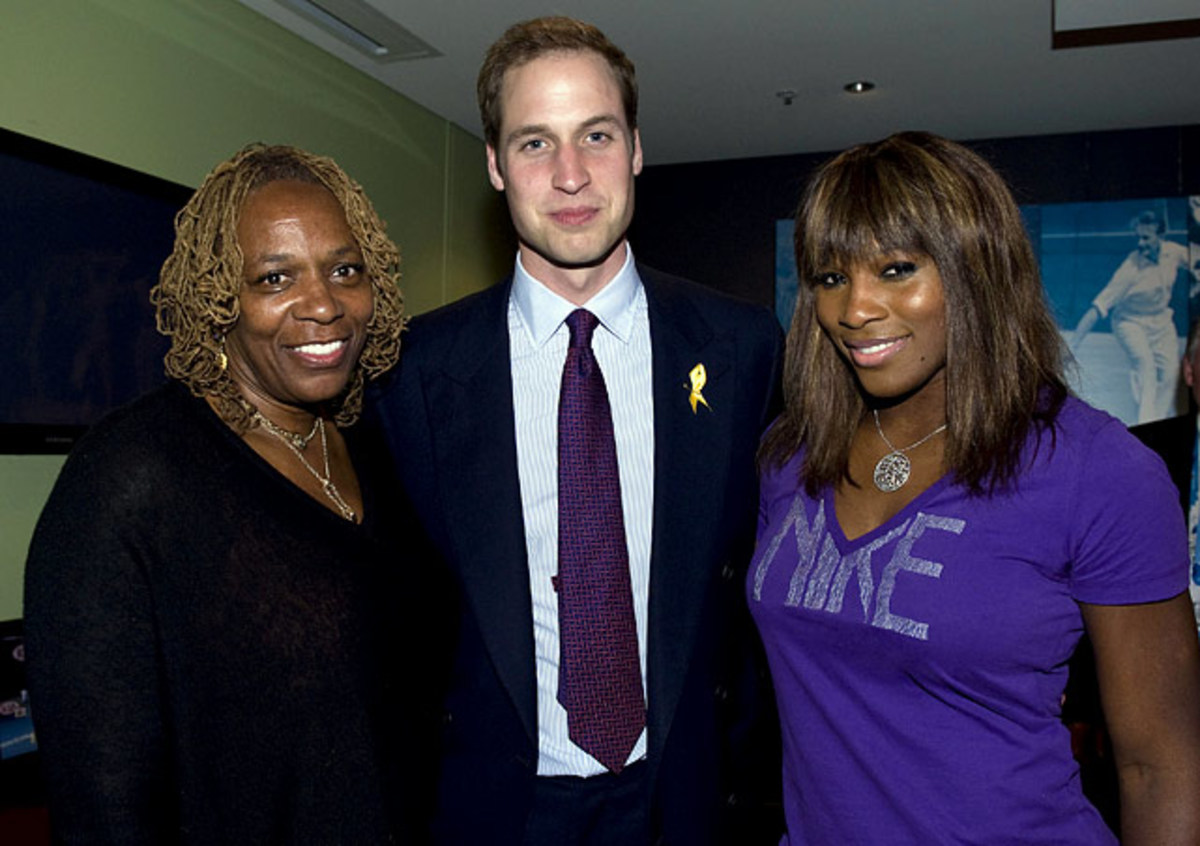 Oracene Price, Prince William and Serena Williams