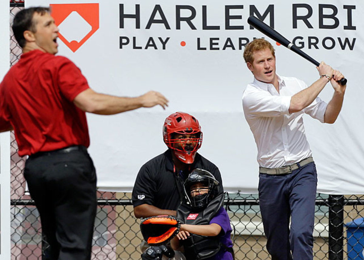 Prince Harry and Mark Teixeira