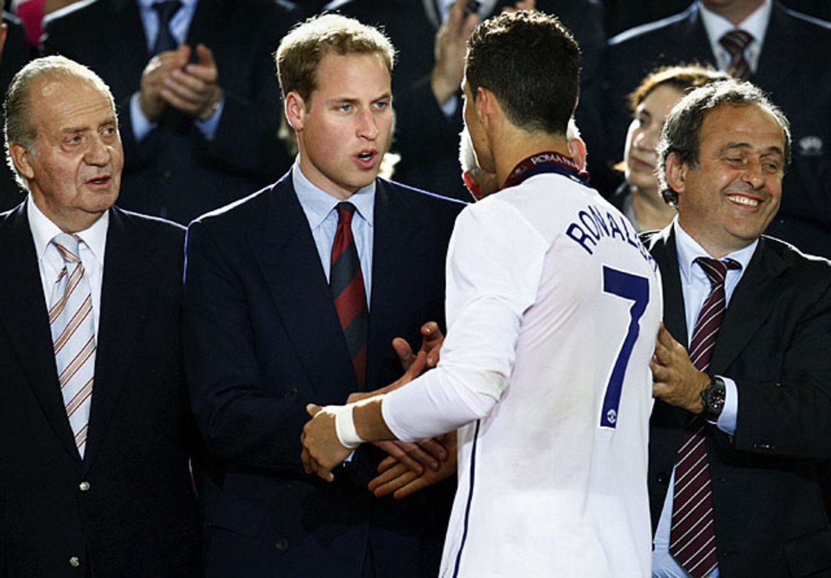 Cristiano Ronaldo and Prince William