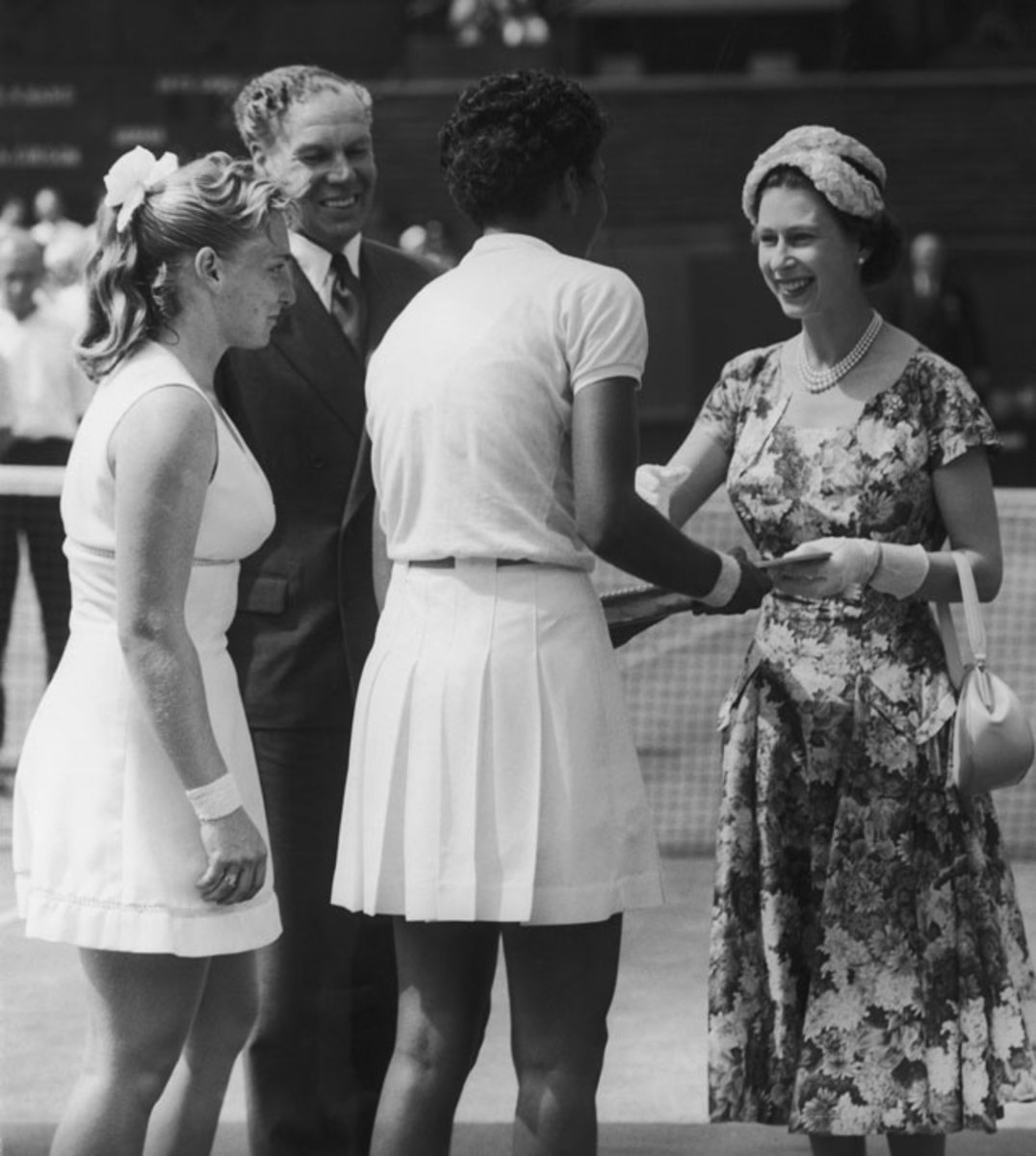 Queen Elizabeth II, Althea Gibson and Darlene Hard