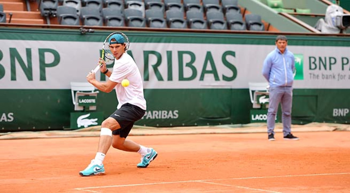 Rafael Nadal is going for his record eighth French Open title.