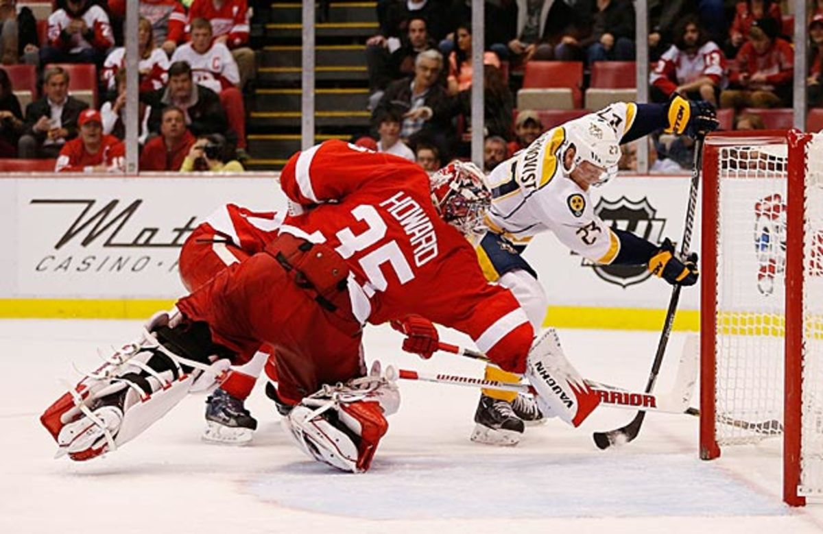 Jimmy Howard of the Detroit Red Wings is playing his way out of a possible role with Team USA at Sochi.