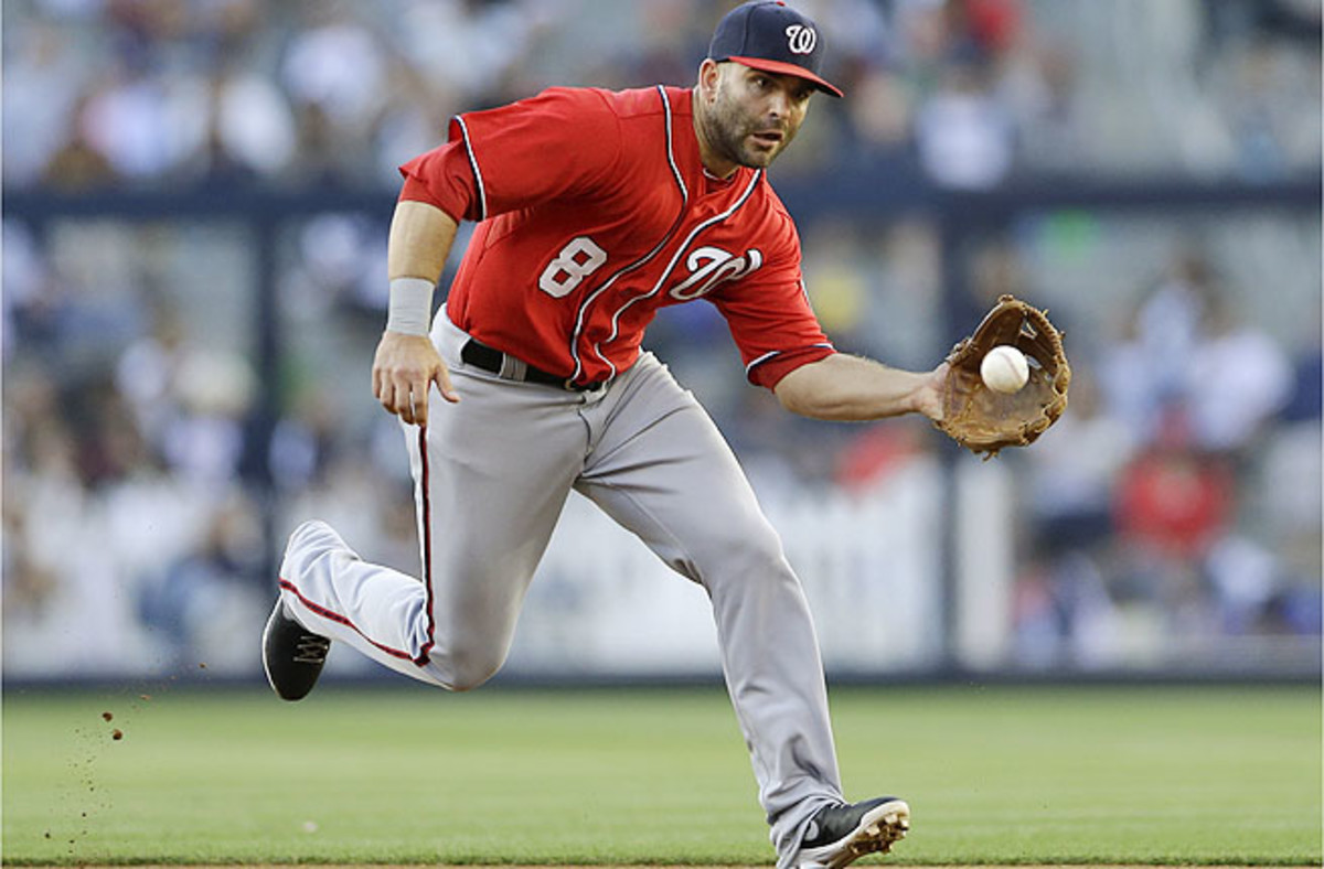 Danny Espinosa has been playing with discomfort since getting hit by a pitch April 14 against Atlanta.