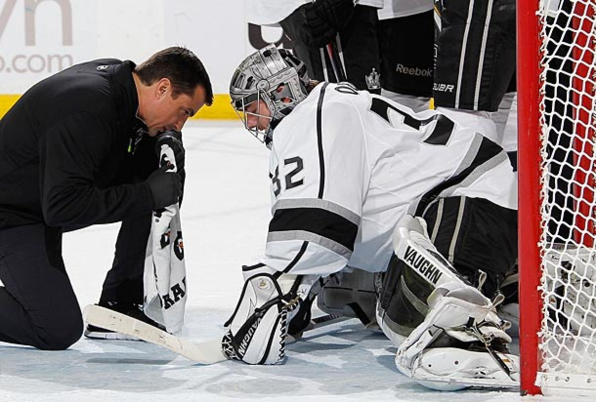 Goaltender Jonathan Quick of the Los Angeles Kings is injured and out indefinitely.