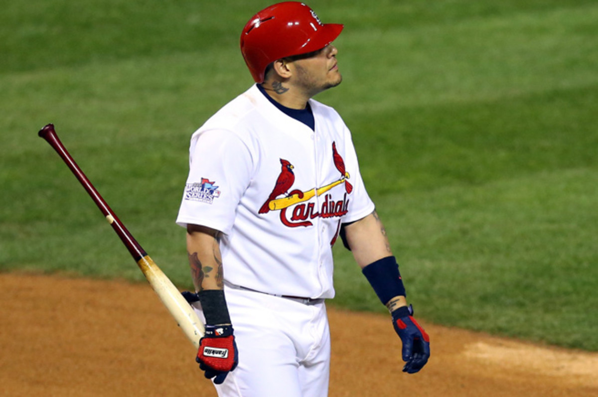 Yadier Molina and the Cardinals' lineup couldn't get anything going in losses in Games 4 and 5.