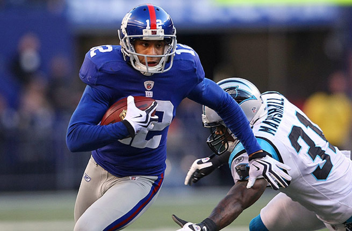 Steve Smith led the 2008 New York Giants with 57 receptions, helping the Giants to a Super Bowl title.