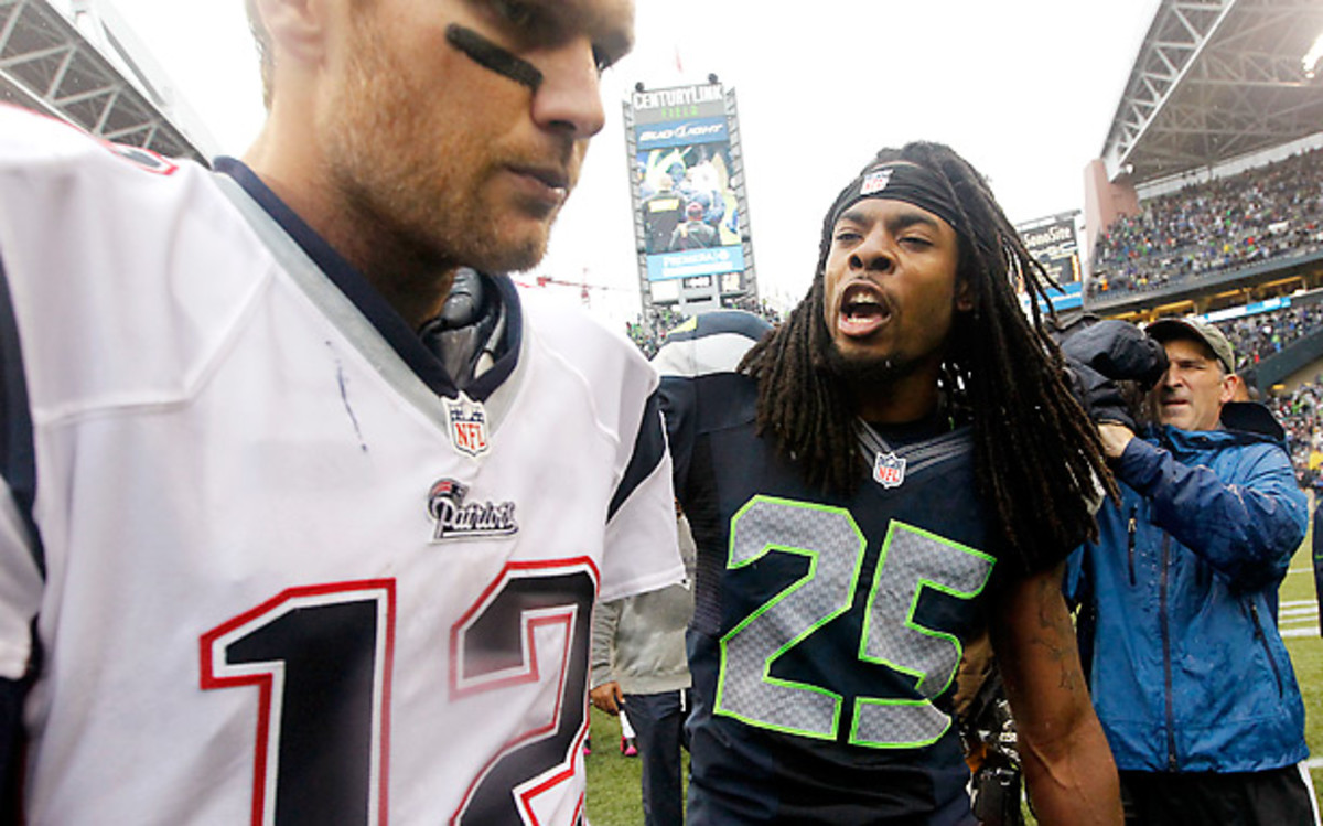 Richard Sherman had 8 interceptions in 2012, and has 12 through his first two years. (Elaine Thompson/AP)