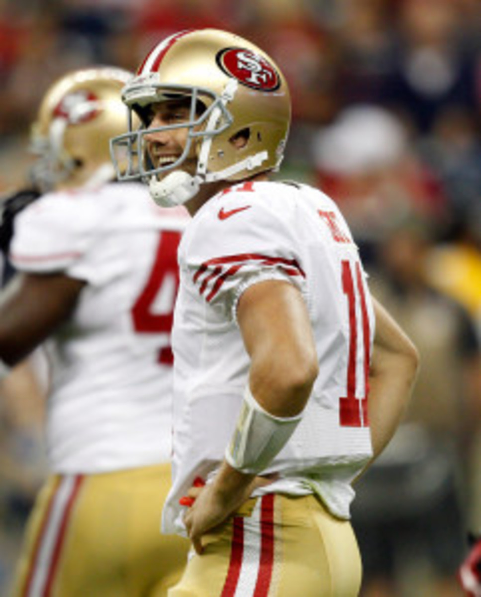 Alex Smith will ask for his release from the 49ers before free agency. (Bob Levey/Getty Images)