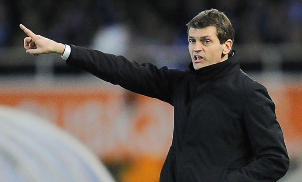 Barcelona has reached the Champions League quarterfinals without coach Tito Vilanova.