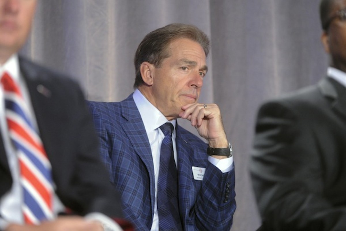 Saban did not visibly yawn during the SEC Network presentation, indicating he is at least magical, if not necessarily evil. (AP)