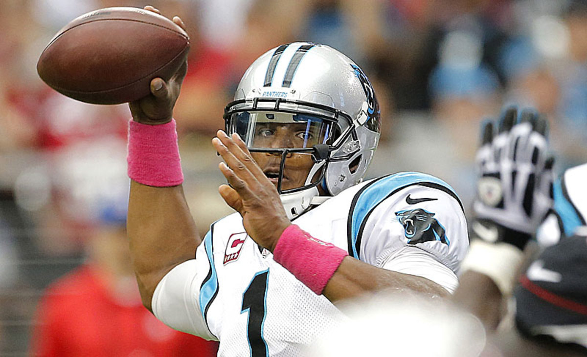 Cam Newton has not impressed this season from a reality or fantasy perspective, but things might finally fall into place this week. (Matt York/AP)