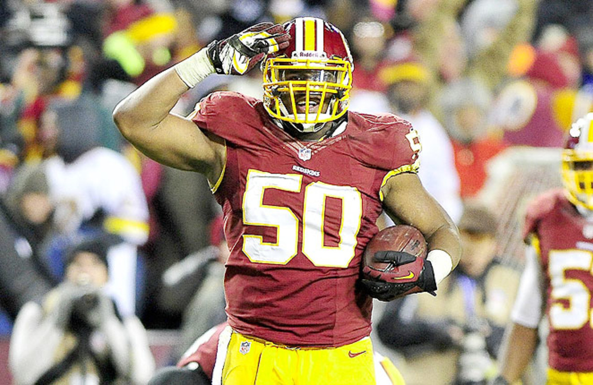 Rob Jackson had three straight games with a sack in 2012, forced into action due to a rash of injuries.