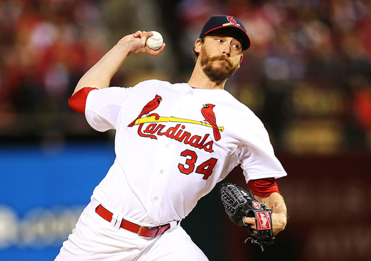 John Axford posted a 4.02 ERA in 65 innings pitched with the Cardinals and Brewers last season.