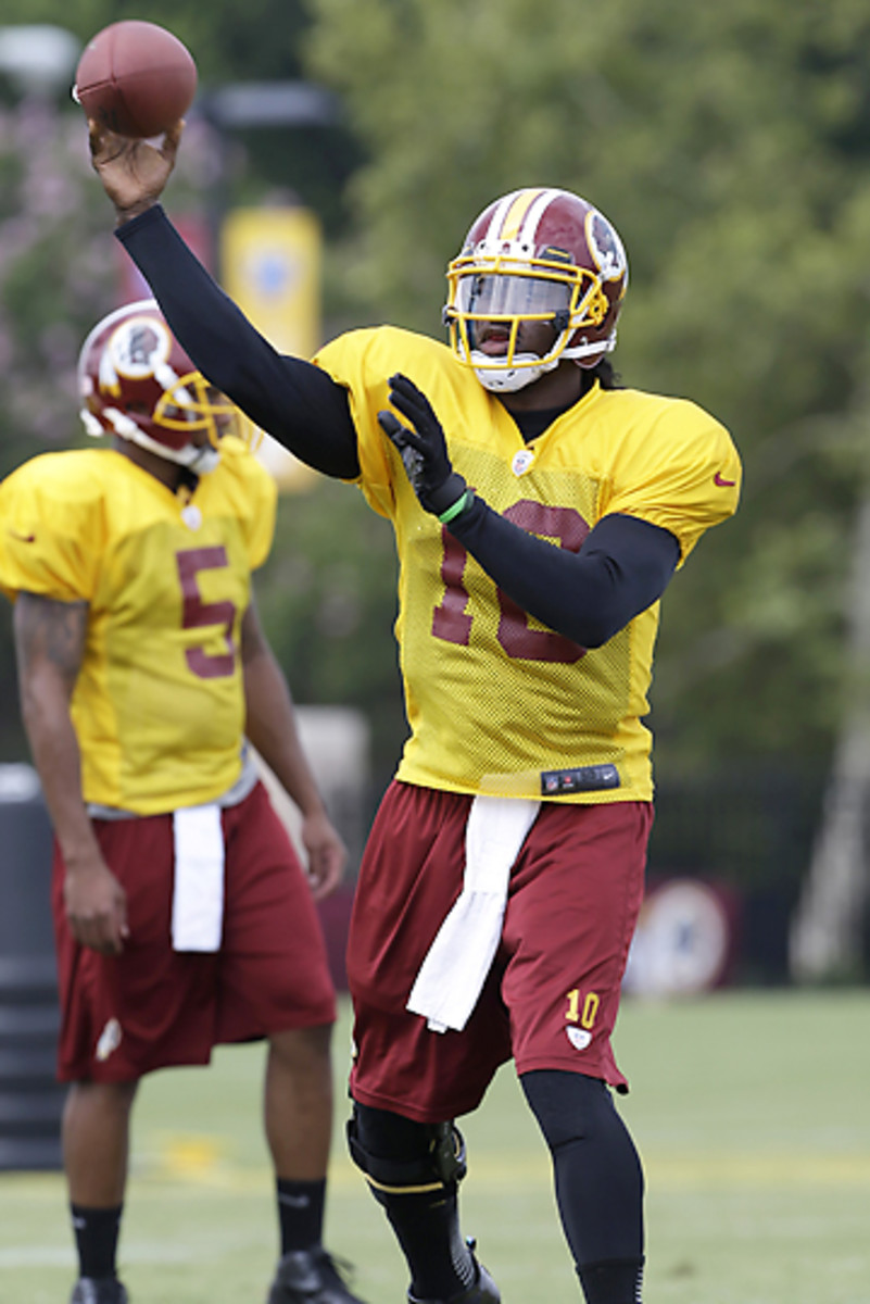 Robert Griffin III has been relegated to light work so far in training camp.