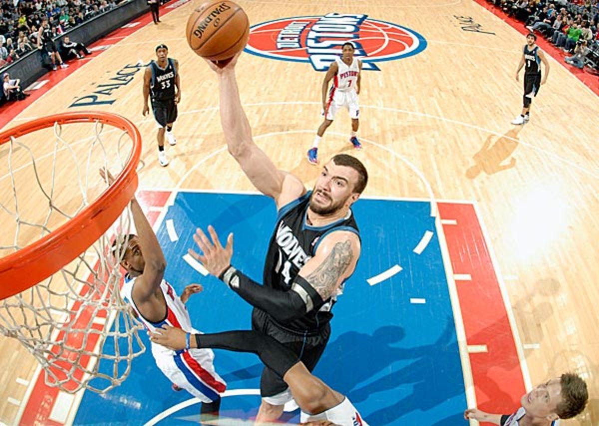 Nikola Pekovic averaged 16.3 points and 8.8 rebounds this season. (Allen Einstein/NBAE via Getty Images)