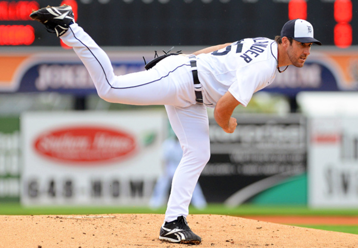 Justin Verlander pitched two scoreless innings in his spring training debut.