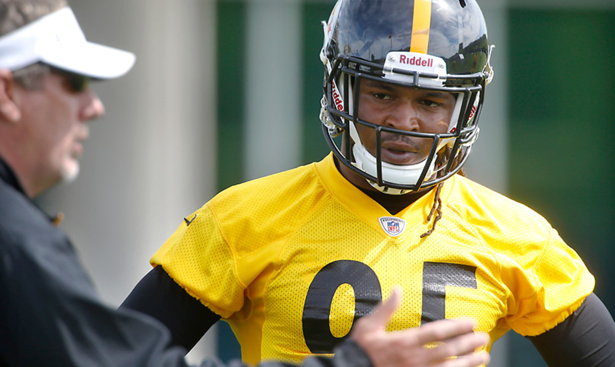 Once considered a possible top-10 pick, Jarvis Jones fell to the Steelers at 17th overall. (Keith Srakocic/AP)