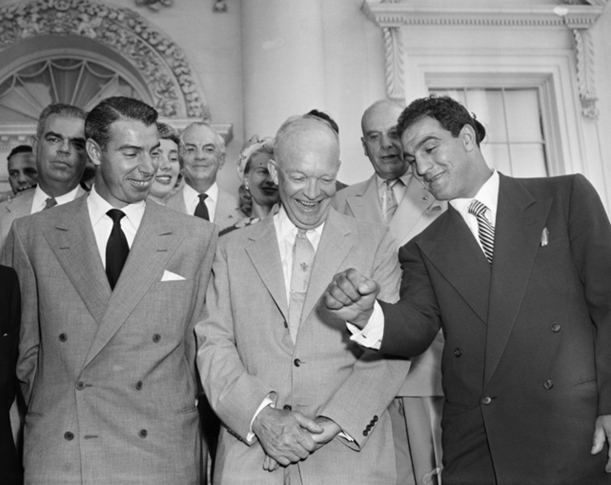 Joe DiMaggio and Rocky Marciano