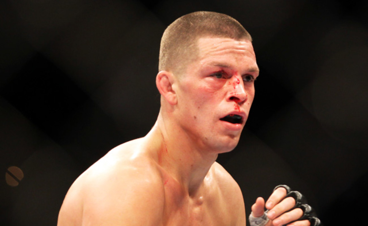 Nate Diaz called Bryan Caraway a homophobic slur after Caraway benefited from Pat Healy's fine.