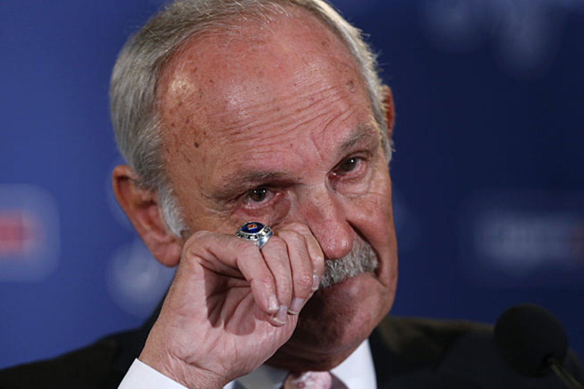 Jim Leyland could be gruff but he frequently showed his emotions, most recently at his retirement press conference.