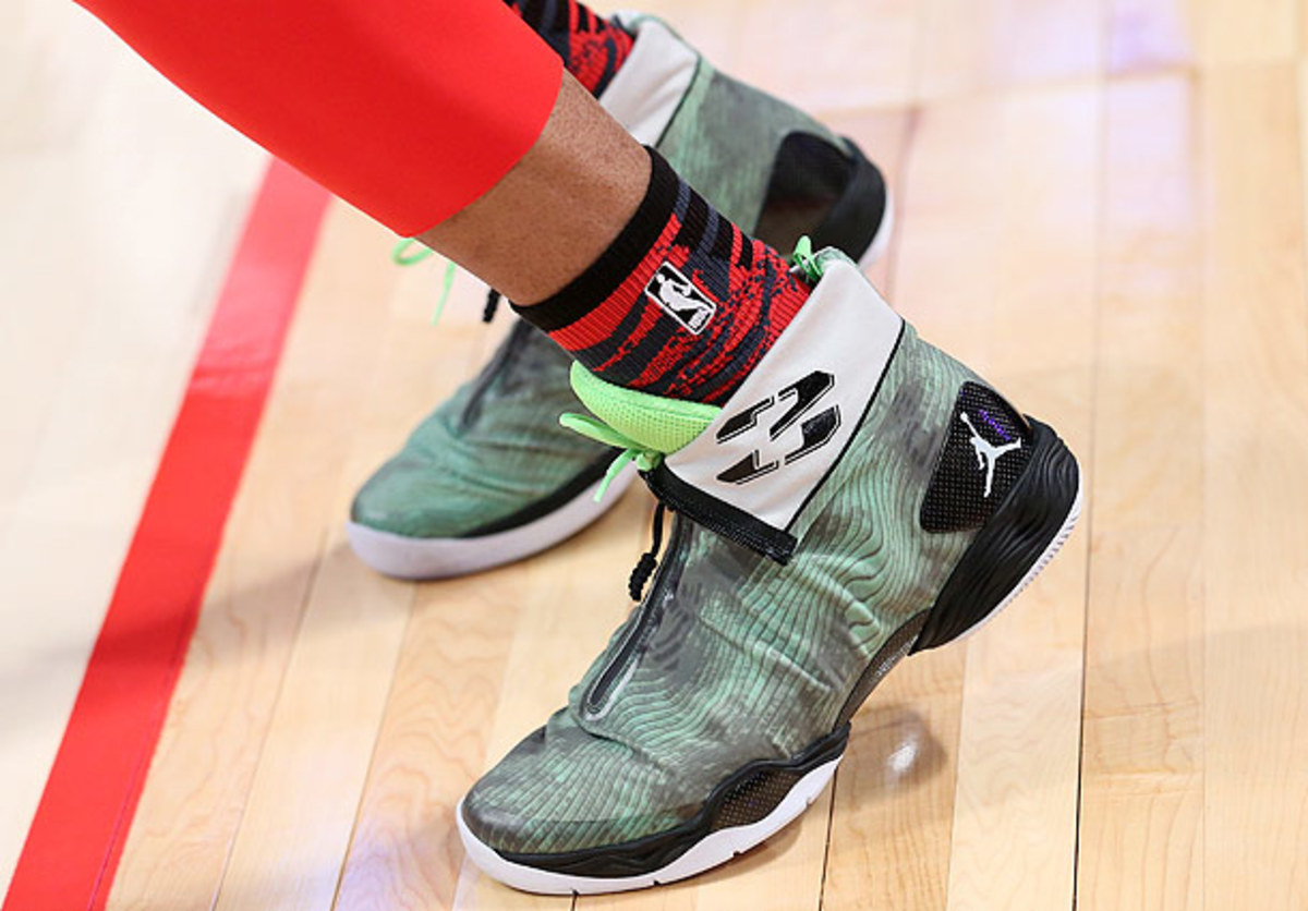 Russell Westbrook wears Jordan brand during the All-Star Game