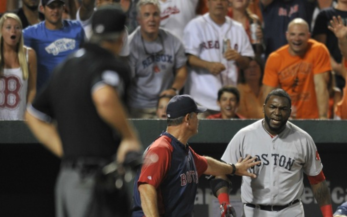 Red Sox DH David Ortiz won't be suspended for his dugout tirade on Saturday. (AP Photo/Gail Burton)