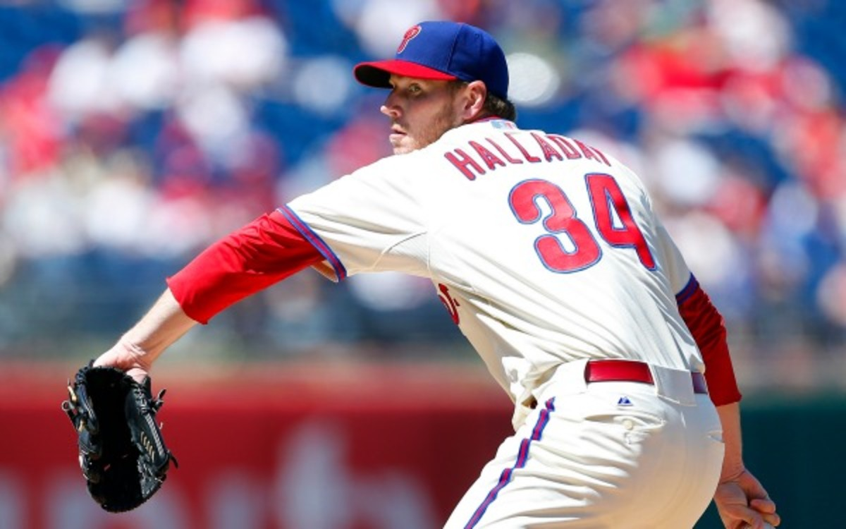 Phillies pitcher Roy Halladay hopes to be back by the end of August. (Rich Schultz/Getty Images)