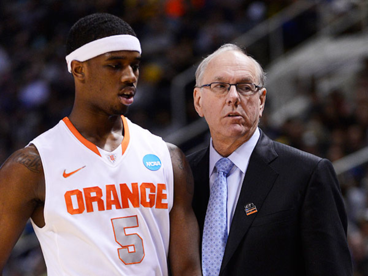 Syracuse coach Jim Boeheim, interestingly, has never lost a national semifinal matchup. (Thearon W. Henderson/Getty Images)