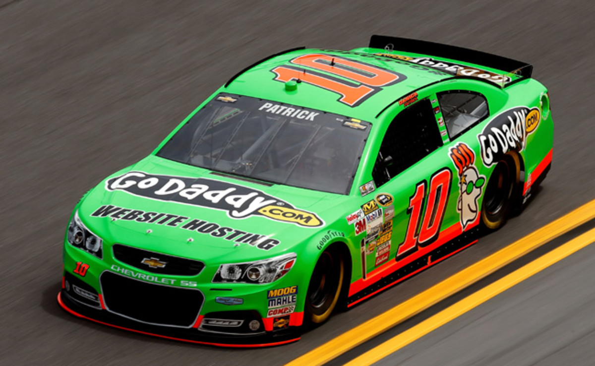 Danica Patrick went 196.220 mph around Daytona International Speedway in the second session.