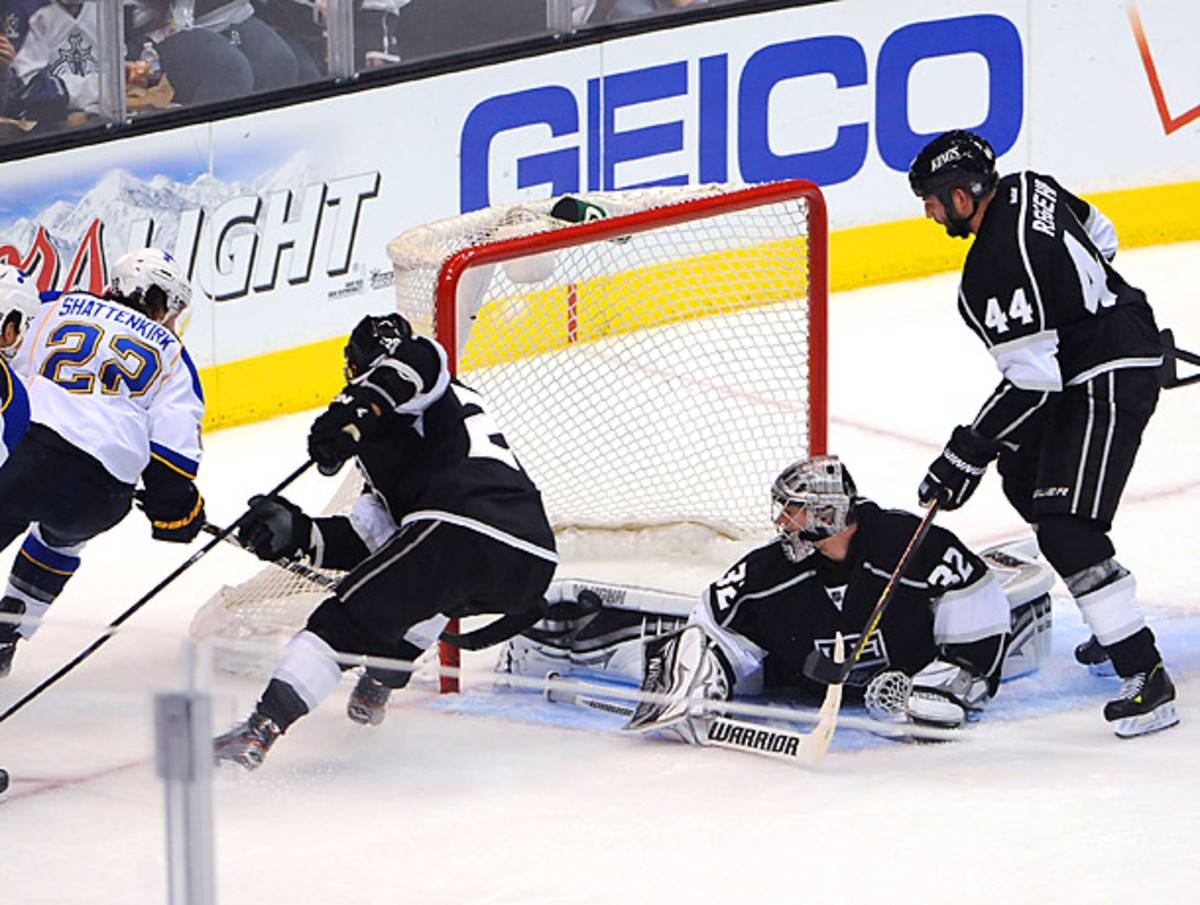 Jonathan Quick made 21 saves in Game 6, and was tremendous throughout the entire series for the Kings. (Noah Graham/Getty Images)